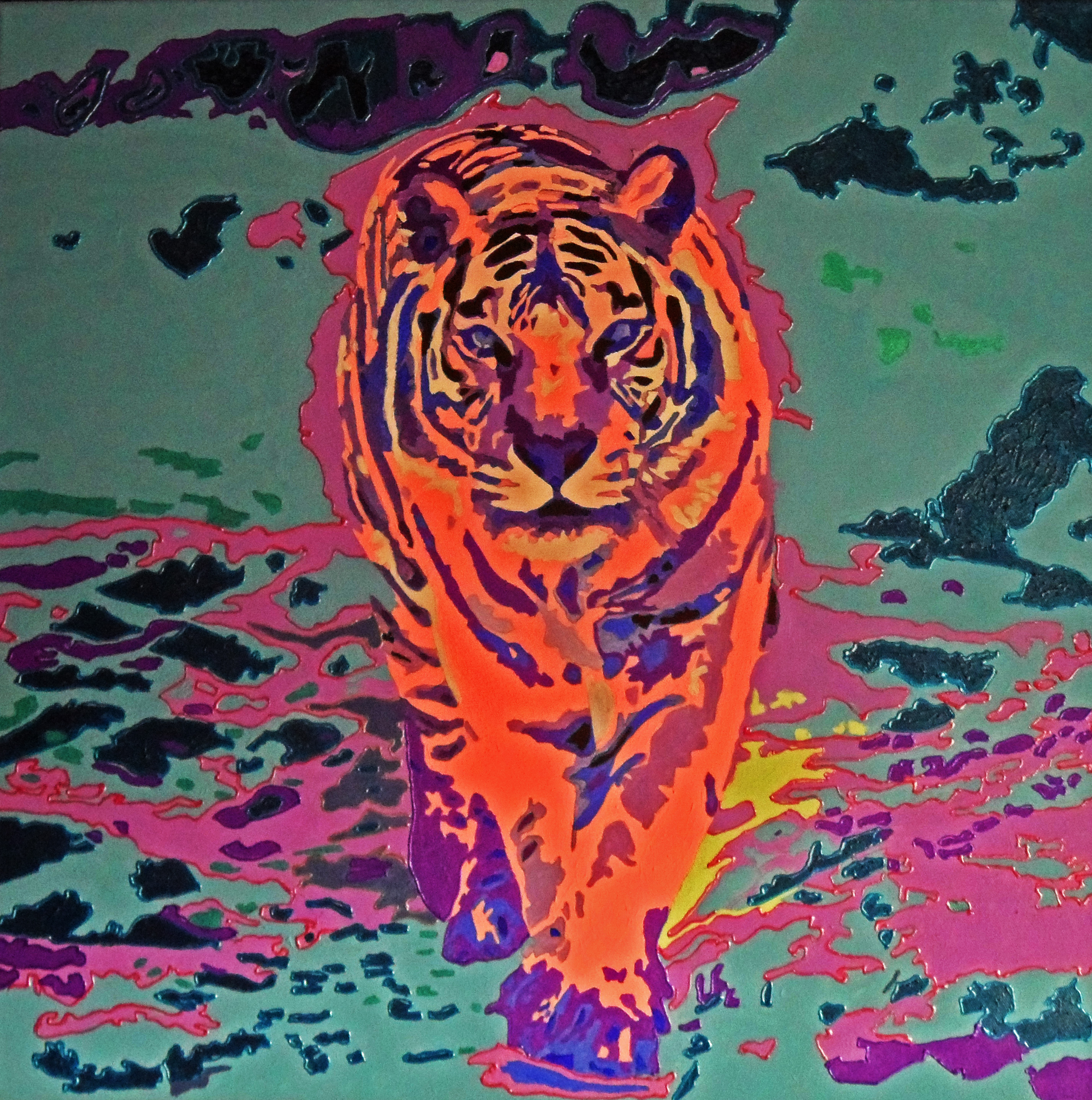 Pink Tiger In A Blue World