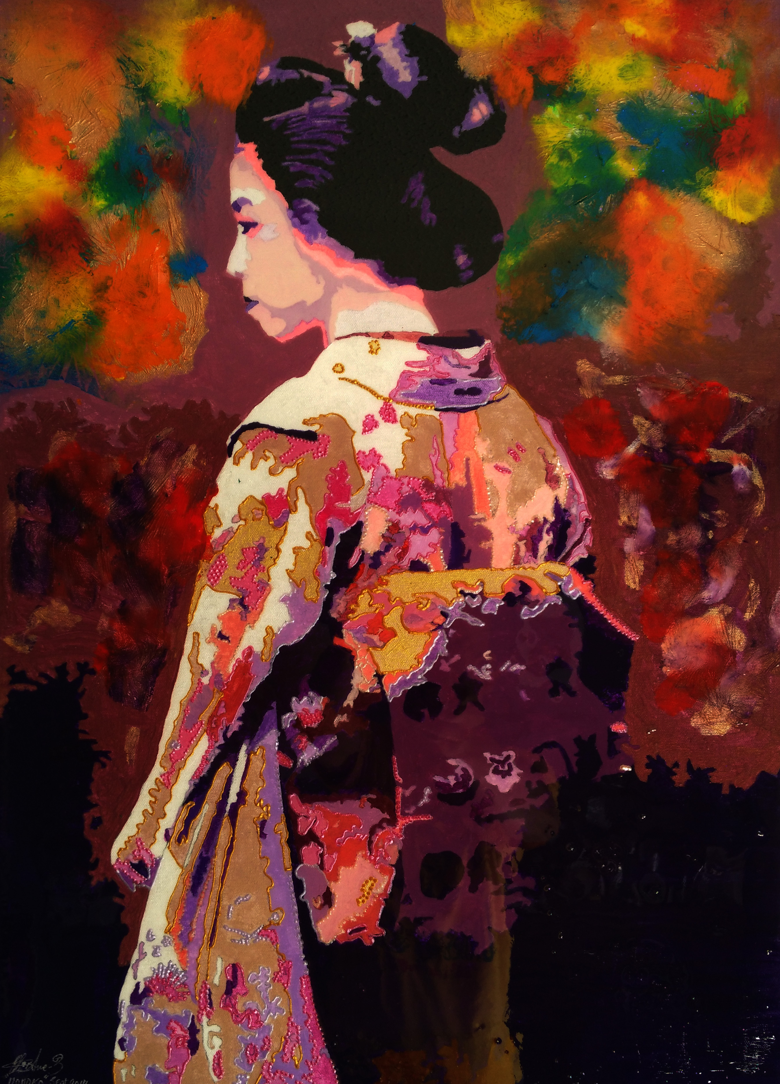 ***NEW PAINTING****Momoko – Peach Tree – September 2017